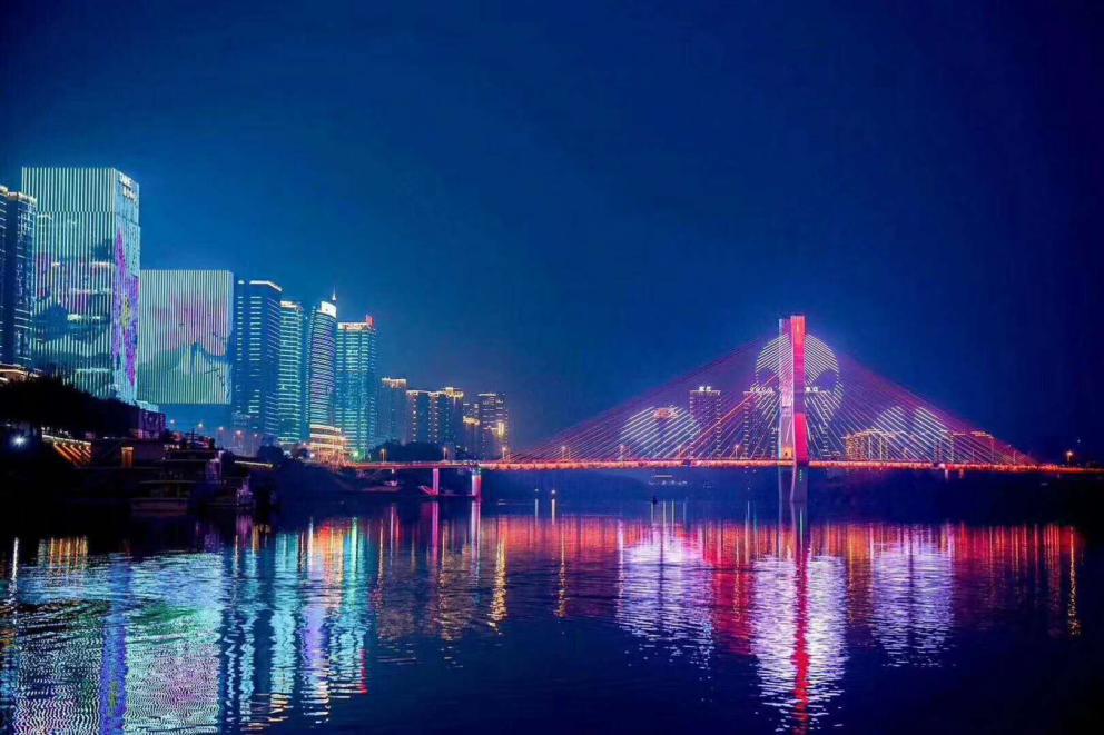 """南充市""""一江两岸""""景观照明项目"""